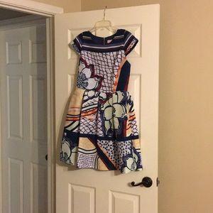 Ted Baker tribal print cap dress MSRP $335
